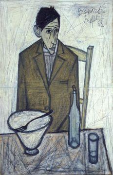 Le buveur, 1948, huile sur toile, 100 x 65 cm. Legs du docteur Girardin au  Musée d'Art moderne de la ville de Paris en 1953