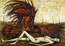 Les Oiseaux - Le rapace, 1959, huile sur toile, 240 x 335 cm. Donation Ida et Maurice Garnier au Musée d'Art moderne de la ville de Paris