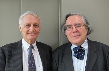 Nicolas Grimal (à gauche) et Jean-Noël Robert (à droite), 6 avril 2012, Canal Académie