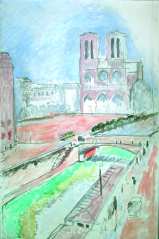 Notre-Dame Paris, quai Saint-Michel, Printemps (1914)