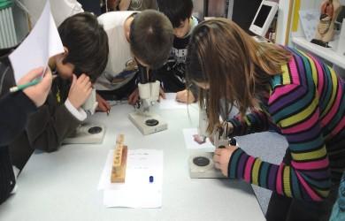 """Elèves """"apprentis chimistes"""" de la classe de Marie-Christine Cosson 2010-2011."""
