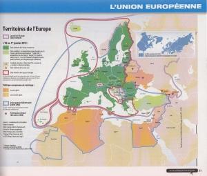 """Exemple de page intérieure avec une carte des """"territoires de l'Europe"""""""