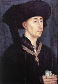 Philippe le Bon portant le collier de l'Ordre de la Toison d'or et le chaperon à cornette pendante