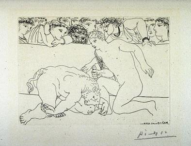 Minotaure vaincu de Pablo Picasso (1933)