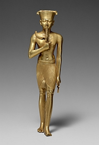 Statue fragmentaire d'Amon Période libyenne, or, 17,5 cm (H) New York, The Metropolitan Museum of Art, Purchase, Edward S. Harkness Gift, 1926