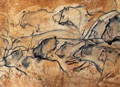 Grotte Chauvet, groupe de lionnes