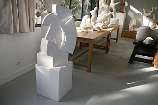 Fondation Arp, Clamart, plâtres de Jean Arp dans l'atelier, fevrier 2012