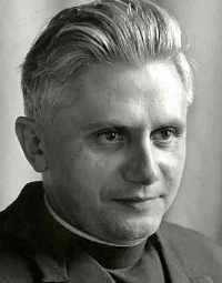 L'abbé Ratzinger dans les années 60.