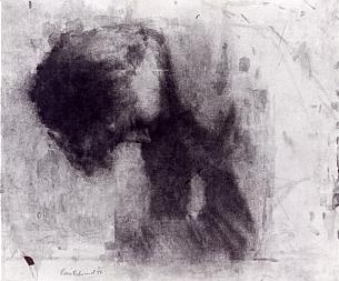 Pierre-Édouard, Homme à terre, 1987, 43 x 51,5cm