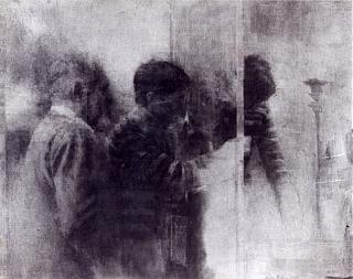 Pierre-Édouard, Homme au bâton, 1987, 66 x 82,5 cm