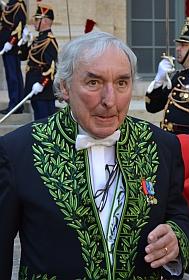 Jean Clair, de l'Académie française lors de la réception sous la coupole de Danièle Sallenave, le 29 mars 2012