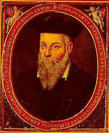 Portrait de Nostradamus. Par son fils, César de Nostredame.