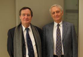 Olivier Perdu et Nicolas Grimal à Canal Académie