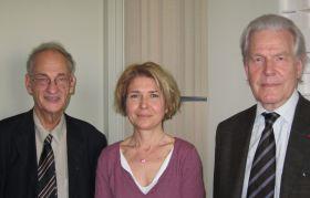 Pierre Brunel, Frédérique Toudoire-Surlapierre et Robert Kopp à Canal Académie