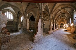la grande nef du Collège des Bernardins en travaux