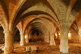 Le Cellier du Collège des Bernardins en travaux