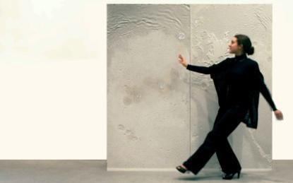 """Milène Guermont, """"Mur Nuées"""", Béton polysensoriel, Exposition """"Mémoires Sensibles!"""" de                                                                                 Musée des Archives nationales juin 2012"""