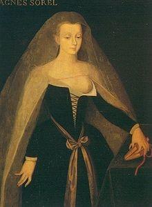 Portrait d'Agnès Sorel d'après Jean Fouquet