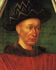 Portrait de Charles VII, par Jean Fouquet, vers 1445 ou 1450, musée du Louvre
