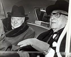 Sir Winston Churchill et Bernard Baruch, homme d'affaires américain