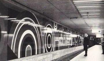 Oeuvre monumentale pour le métro de Hanovre, Jean Dewasne, 1975