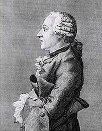 Le baron Grimm. Gravure de John Swaine d'après Carmontelle (1769).