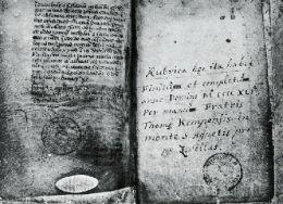 Manuscrit de l'Imitatione Christi. de Thomas a Kempis