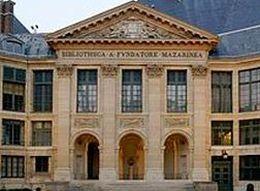 La bibliothèque Mazarine, quai de Conti (rive gauche) dans le 6e arrondissement de Paris.