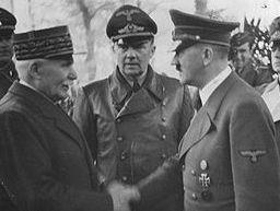 Le Maréchal Pétain et Hitler lors de l'entrevue de Montoire