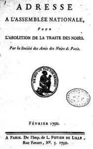 Adresse de la Société des amis des Noirs à l'Assemblée nationale en février 1790