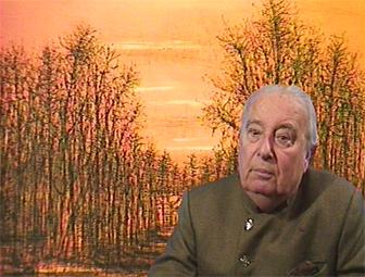 Portrait de Jean Carzou, 1995, Image tirée d'une vidéo pour l'Encyclopédie audiovisuelle de l'art contemporain.