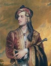 Lord Byron en tenue albanaise, de Thomas Phillips (après 1835-huile sur toile- 76,5x63,9cm), National Portrait Gallery, Londres.