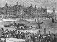 La Tamise devant le Quai Albert et l'Hôpital Saint-Thomas