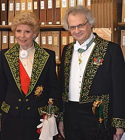 Hélène Carèe d'Encausse, Secrétaire perpétuel de l'Académie française et Amin Maalouf, de l'Académie française