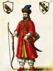Marco Polo habillé en Tartare (peinture du XVIIIe d'Hermanus van Grevenbroeck au Museo Correr de Venise).