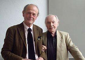 René de Obaldia avec Jacques Paugam, à Canal Académie