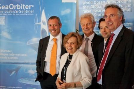 Global Ocean Forum juin 2012- Jacques Rougerie (à droite)