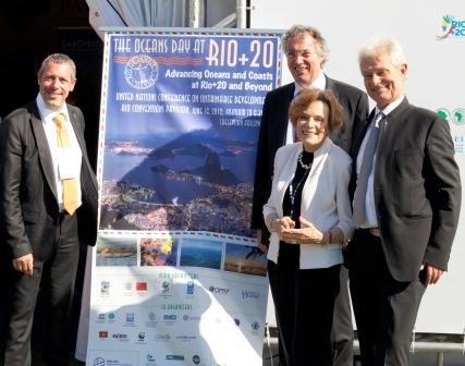 Global Ocean Forum- Jacques Rougerie (à droite)