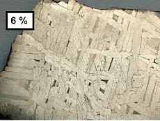 Exemple de météorite de fer