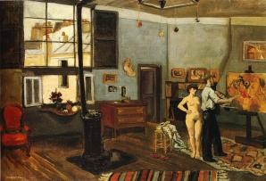 Yves Brayer, L' Atelier du peintre aux Grands-Augustins, 1934
