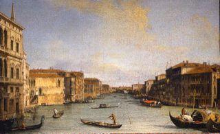 Antonio Canal dit Canaletto Vue du Canal Grande de Palazzo Balbi vers Rialto 1726-1728 environ Huile sur toile 45 x 73 cm Florence, Galleria degli Uffizi