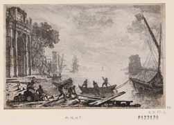 Claude Gellée dit Le Lorrain (vers 1600-1682), Le soleil levant, 1634, eau-forte, 12,7 x 19,4 cm Bibliothèque nationale de France