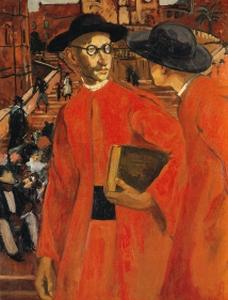 Yves Brayer, Séminariste en rouge-Rome. 1932