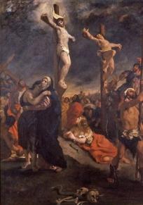 Le Christ sur la croix d'Eugène Delacroix