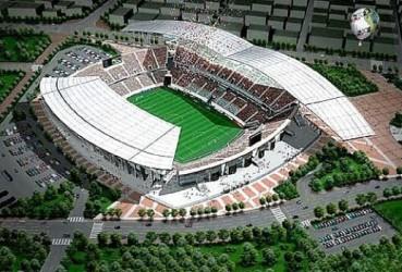 Stade de la Coupe du monde de Suwon. Il est ouvert le 13 mai 2001 en vue de la Coupe du monde de football de 2002 © SCAU