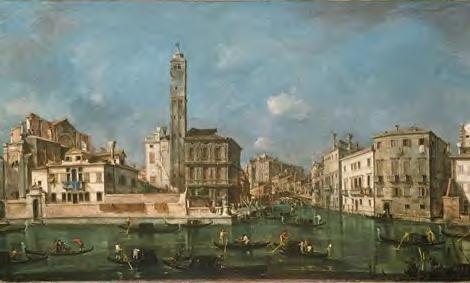 Francesco Guardi Le Grand Canal avec l'entrée au Cannaregio Huile sur toile 72,5 X 120 cm Alte Pinakothek, Munich