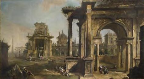 Canaletto (Antonio Canal, dit), Caprice avec architectures en ruine, H. 178 x l. 322 x ép. 10 cm