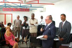 Visite et discours du Chancelier de l'Institut de France, à la Bibliothèque Numérique de l'Université d'Etat d'Haïti (BNUEH) – à Port-au-Prince.