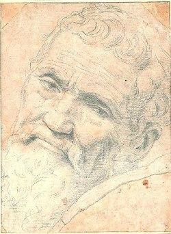"""Portrait de Michel-Ange (1475-1564) par Daniele da Volterra (1509-1566) surnommé """"il Braghettone"""""""