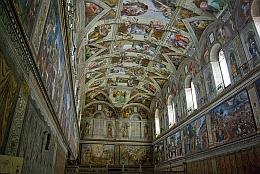 Intérieur de la chapelle Sixtine